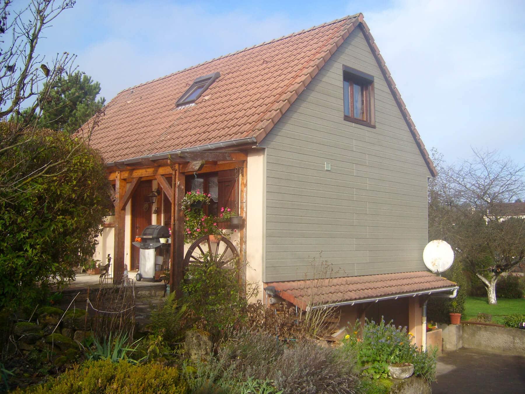 Maison En Bois Moselle isolation maison bardage bois à tiercelet (54) - enduiest