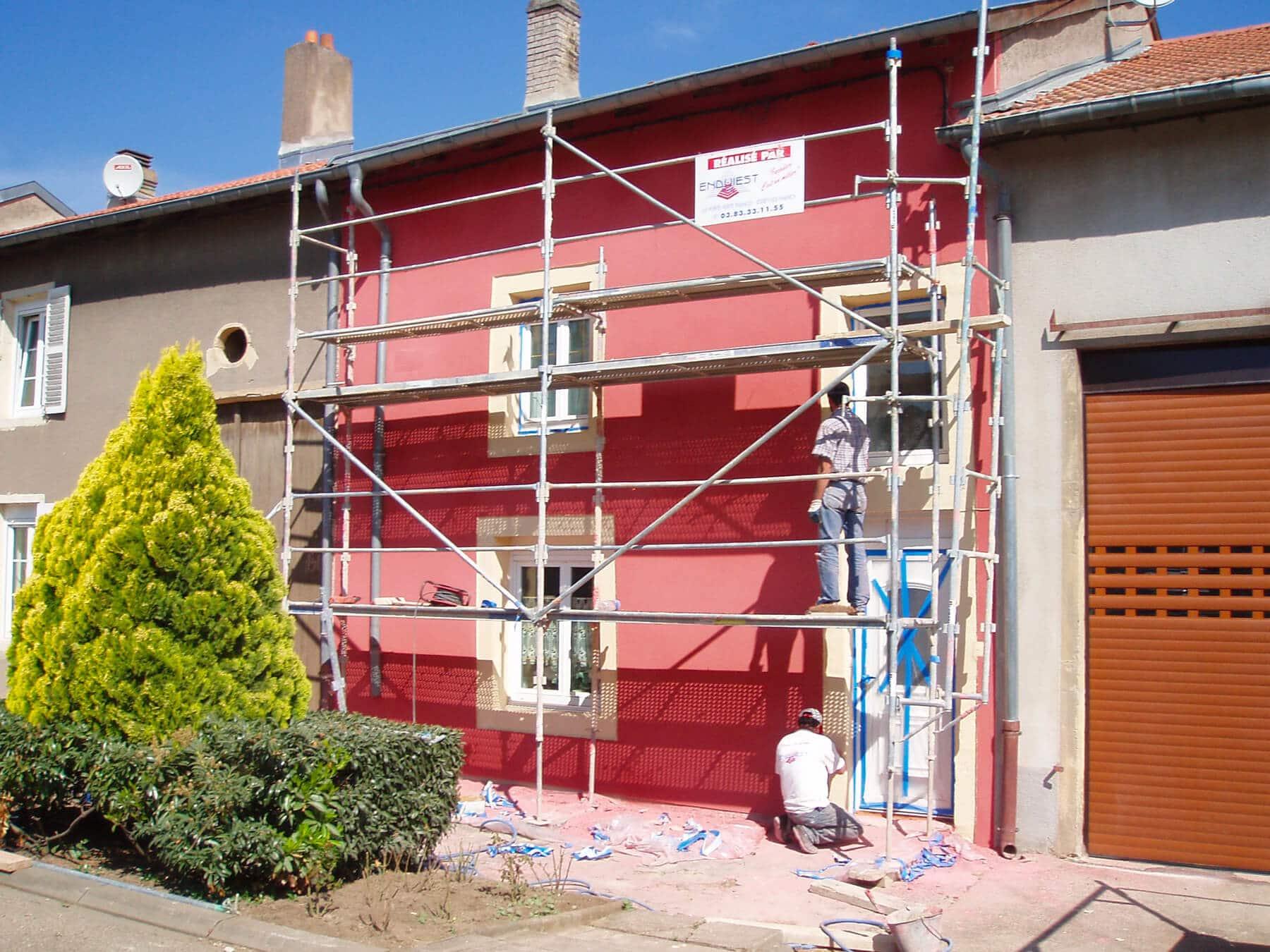 Peinture façade Maison de village