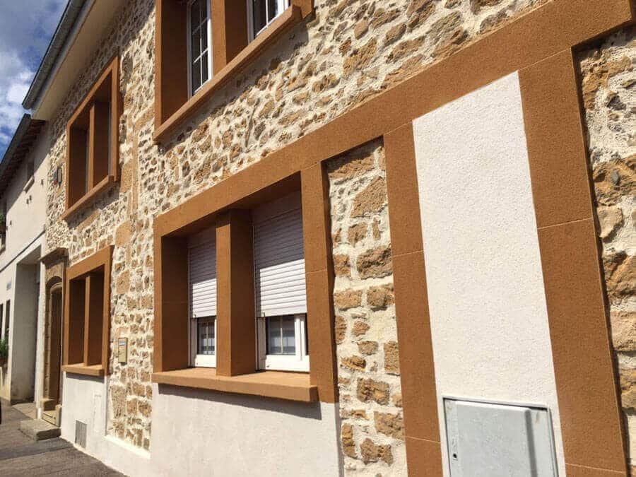 Ravalement façades pierres apparentes 57