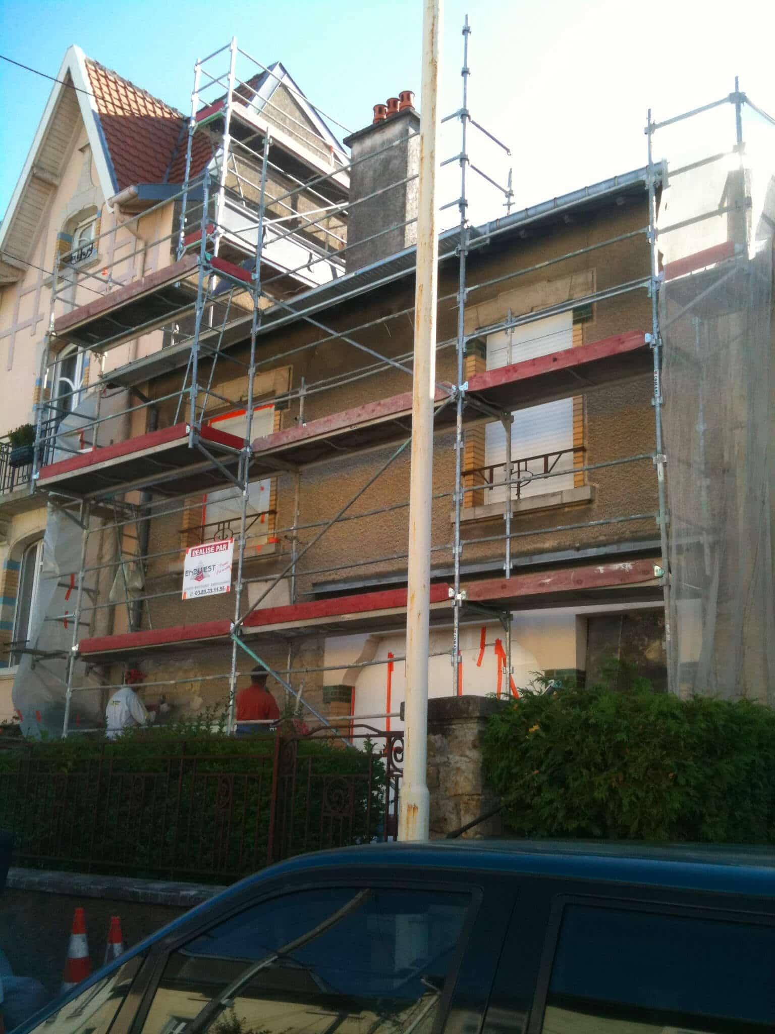 Rénovation façade chaux aérienne maison Laxou (54)
