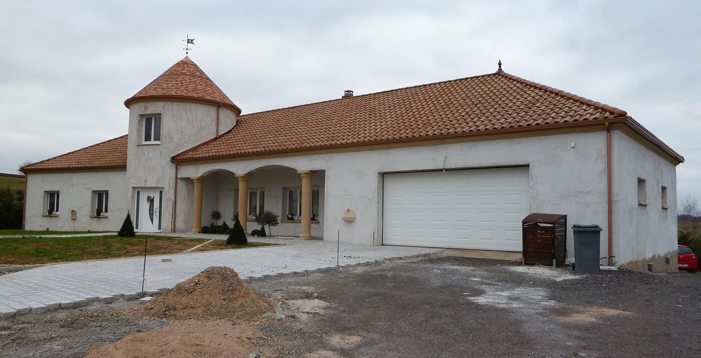 Ravalement façade pavillon neuf à Beyren-lès-Siercks (57 – Moselle)