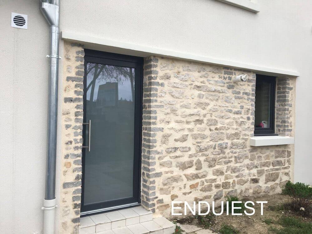 Ravalement de façades avec pierres apparentes, Villers-lès-Nancy