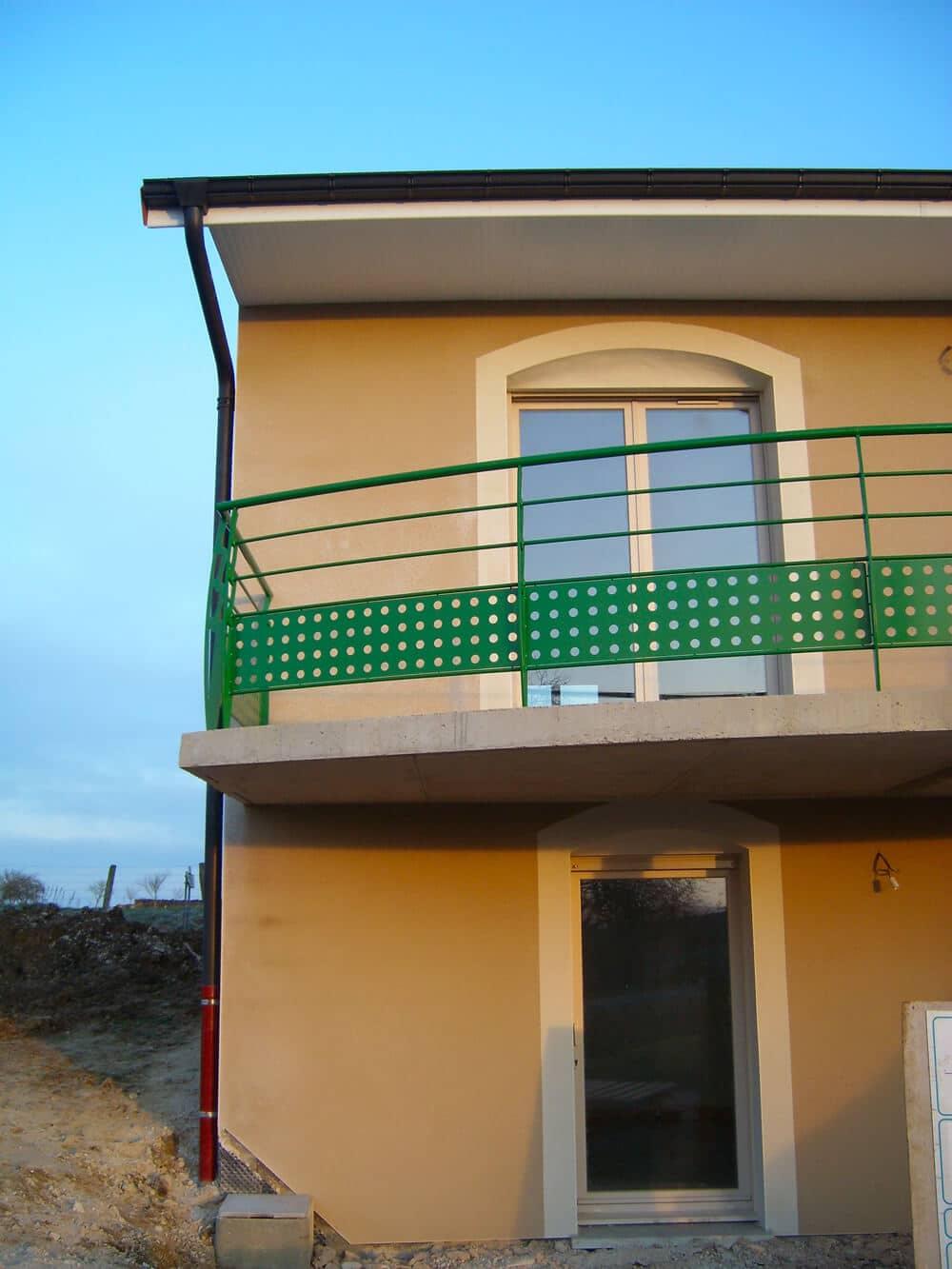 Réalisation façades pavillon neuf à Bar-le-Duc (Meuse, Lorraine)