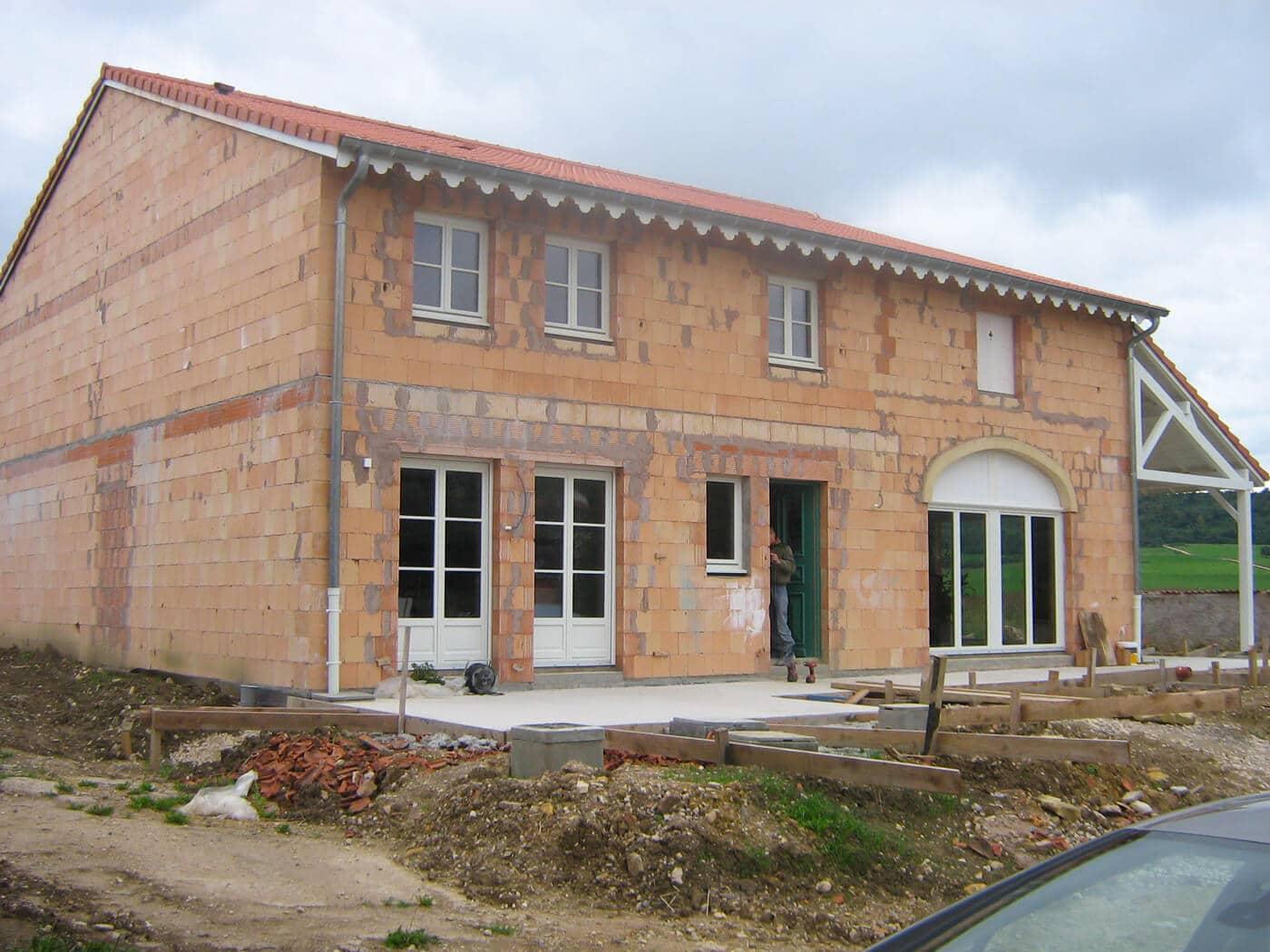 Réalisation façade pavillon neuf à Eulmont en Meurthe-en-Moselle (54)