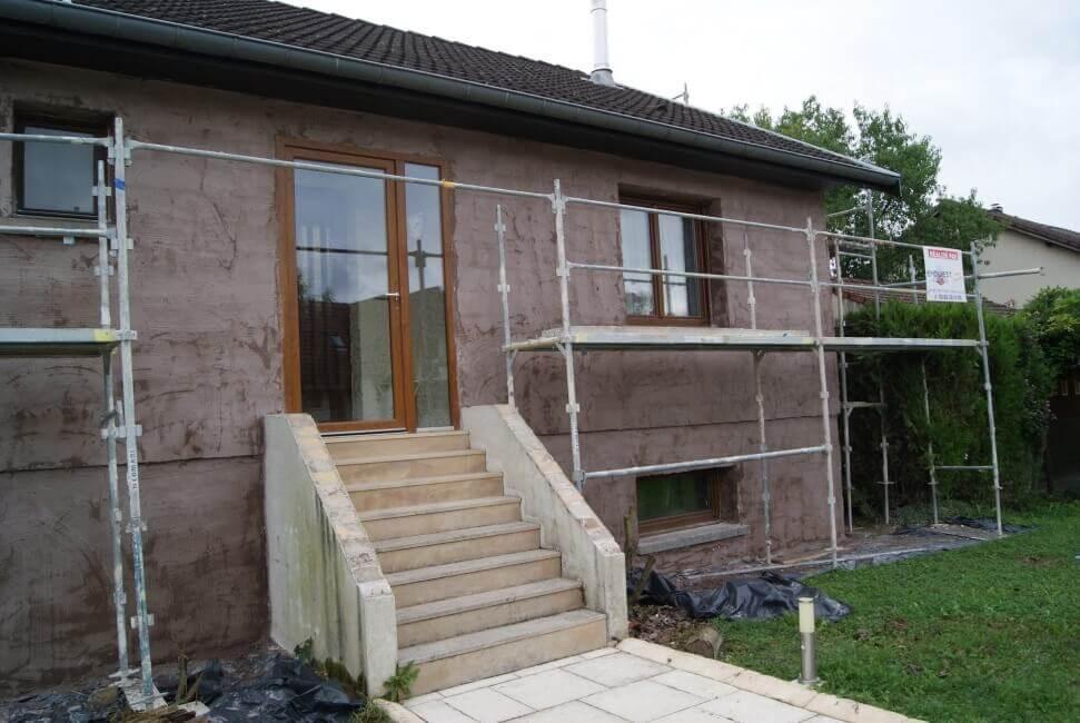 Ravalement de façades d'un maison à Villey-Saint-Etienne