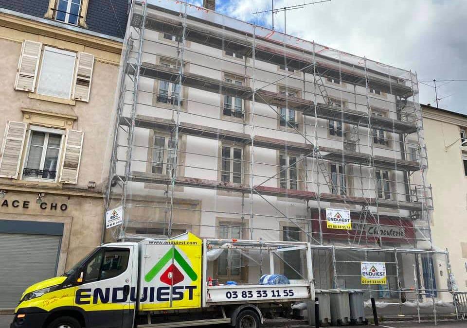 Rénovation d'un immeuble en centre-ville