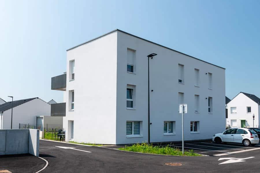 Isolation extérieure d'un immeuble situé dans un éco-quartier à Lunéville en Lorraine